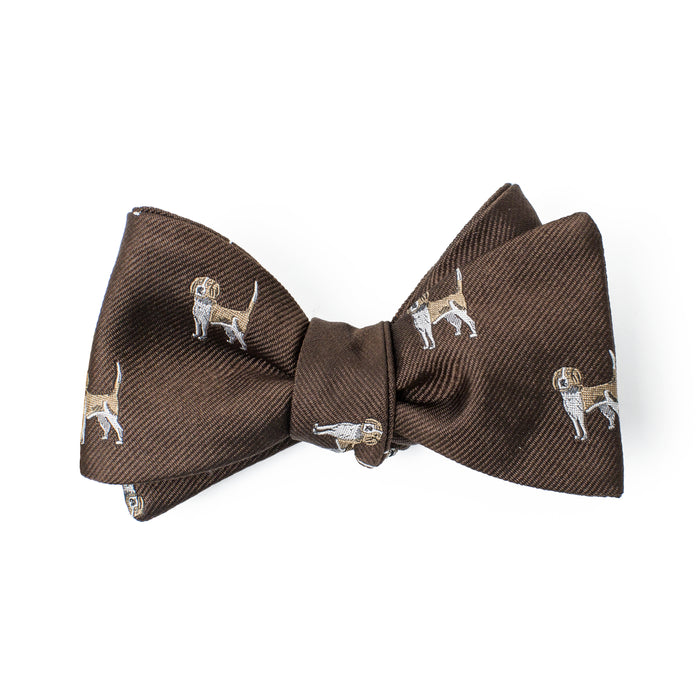 Brown Large Dog Printed Bow Tie