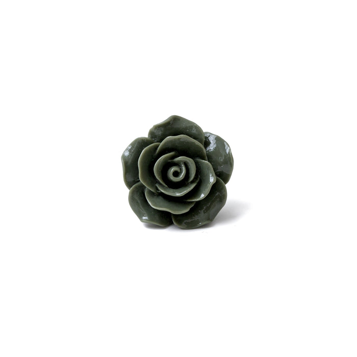 Khaki Rose Lapel Pin