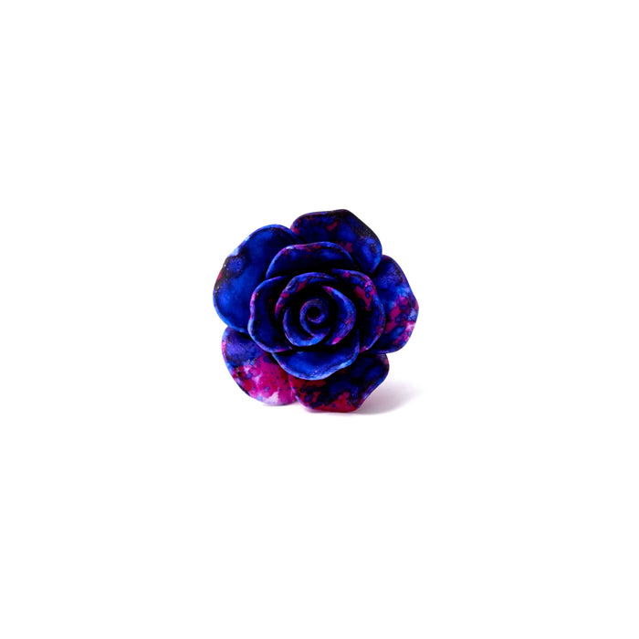 Purple Splash Rose Lapel Pin