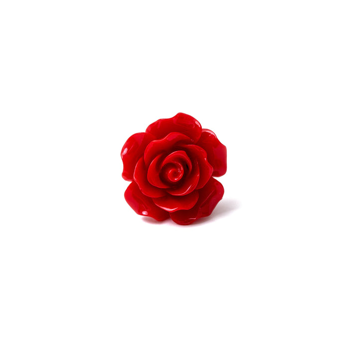 Ruby Red Rose Lapel Pin