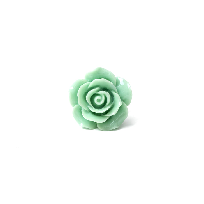 Seafoam Green Rose Lapel Pin