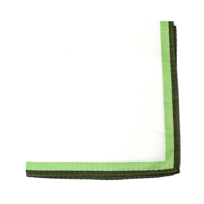 Green Outlined Pocket Square