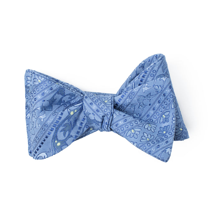 Light Blue Monochromatic Print Bow Tie