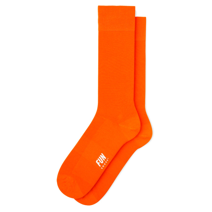 Men's Solidified Crew Socks - Orange
