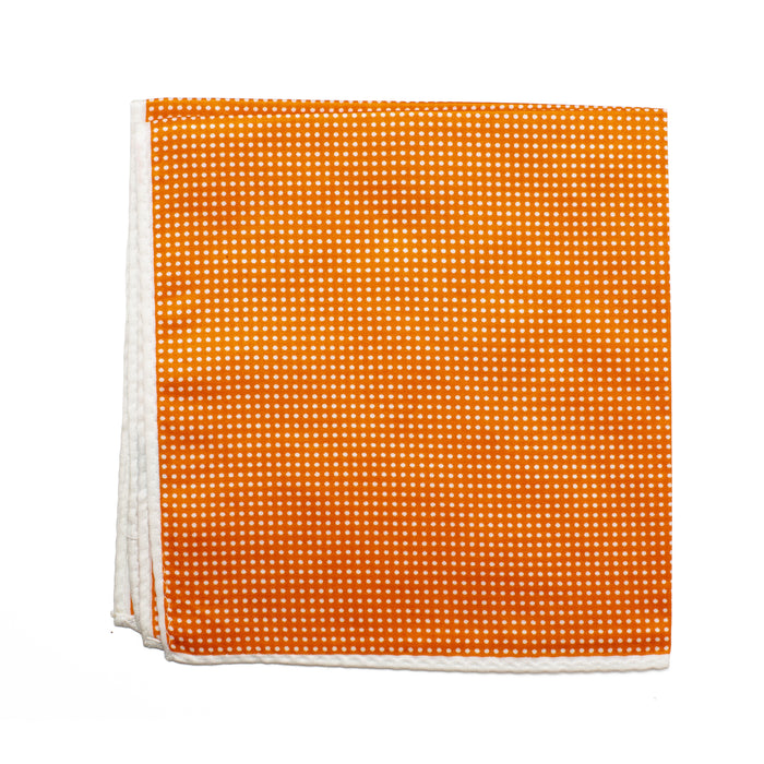 Orange Polka Dot Pocket Square