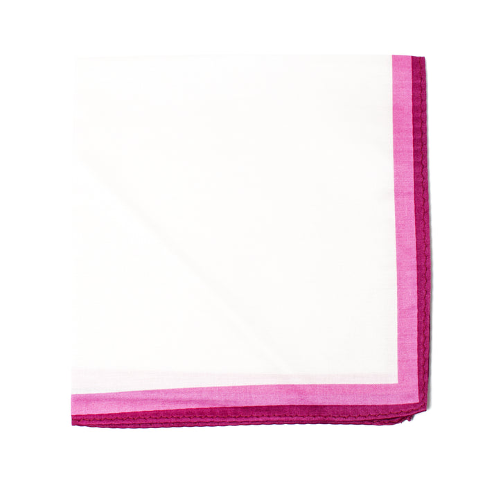 Pink Outlined Pocket Square