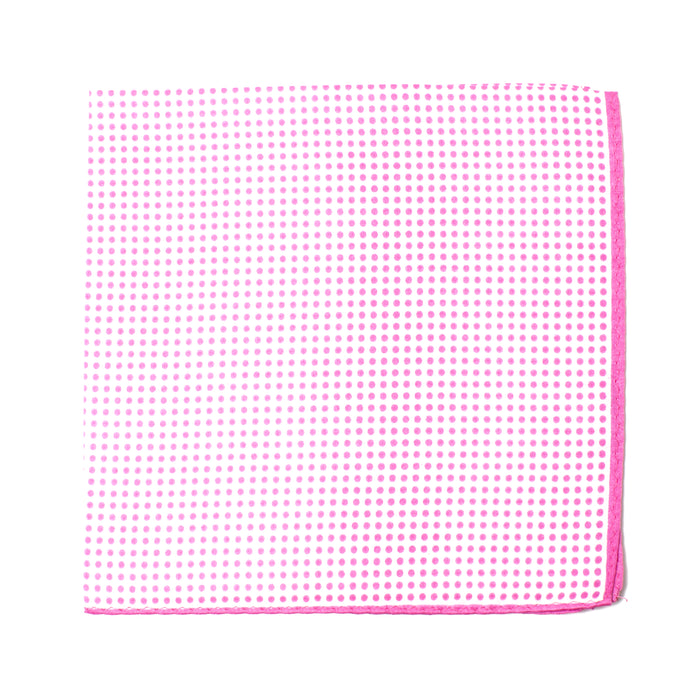 Pink Polka Dot Pocket Square