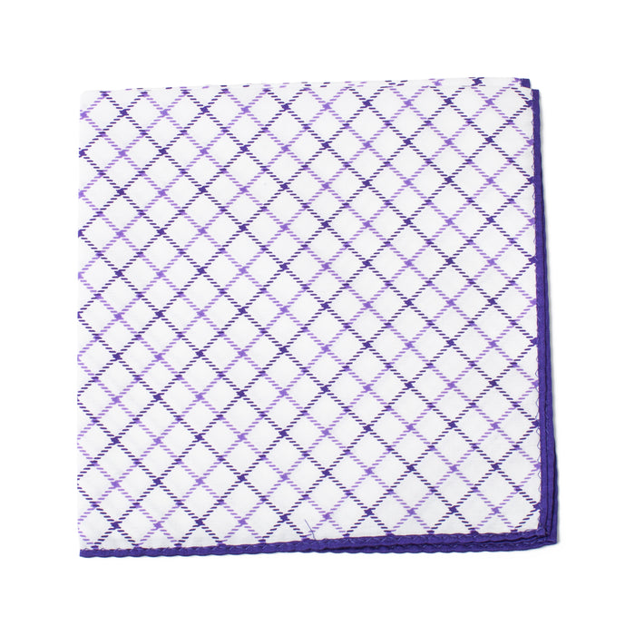 Purple Outlined Pocket Square