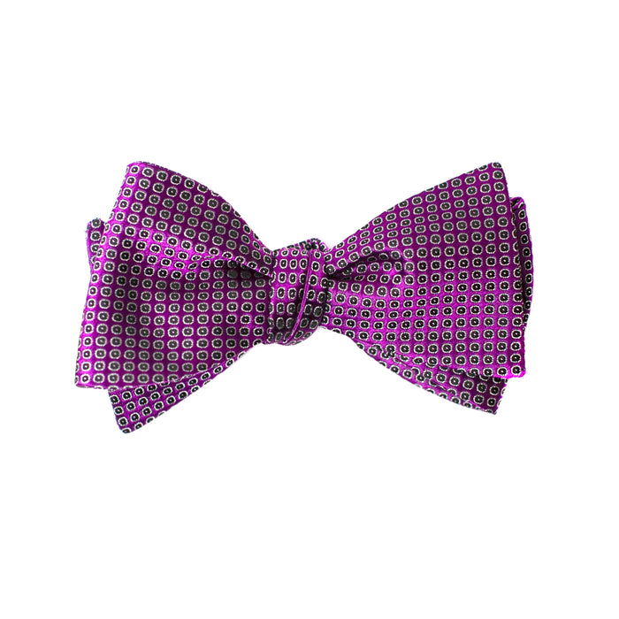Purple Textured Dot Bow Tie