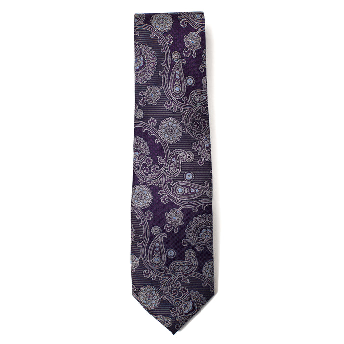 Purple Paisley Printed Tie
