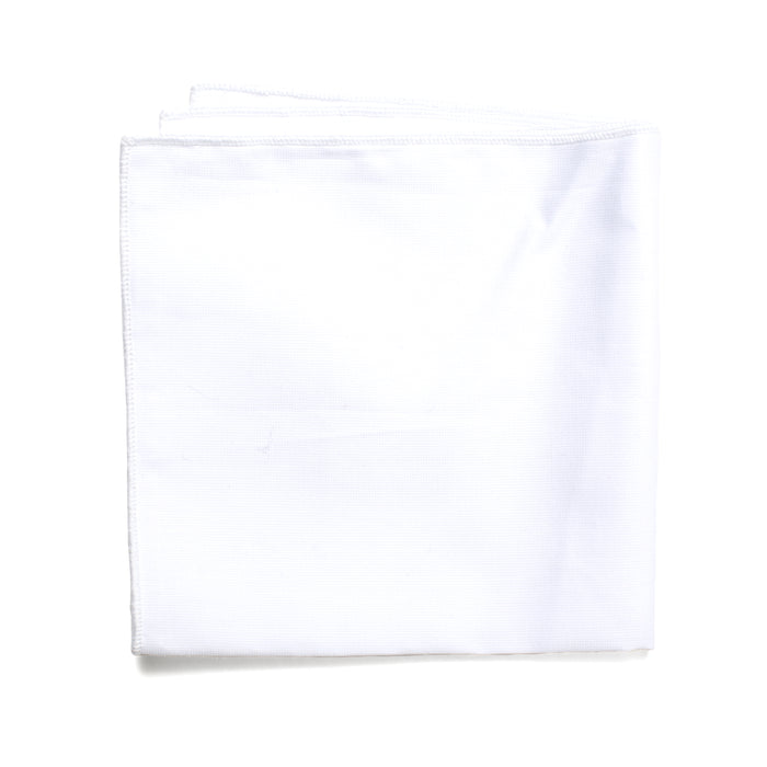Solid White Pocket Square