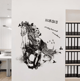Black Run Horse Wall Sticker