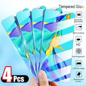 4Pcs Tempered Glass For Huawei