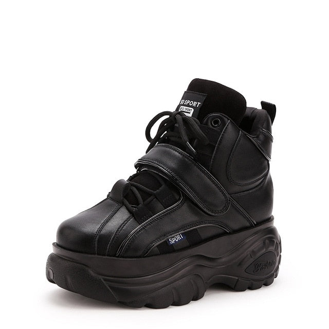 Women's Sneakers, High Top Leather