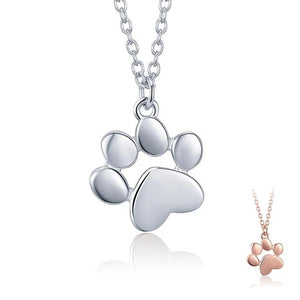Pet Paw Silver Necklace