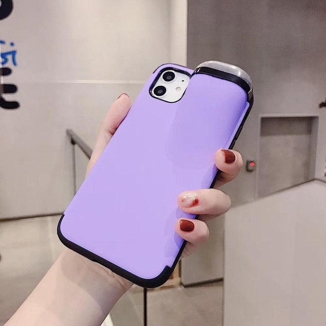 2in1 Phone Case with Earphone Case for Air Pods