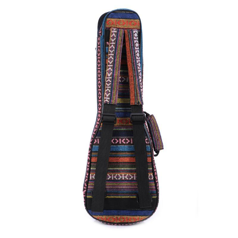21/23/26 Inch Ukulele Guitar Bag Backpack - Cotton Double Shoulder Strap