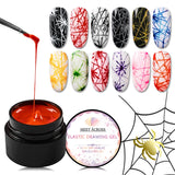 Nail Spider Gel Painting
