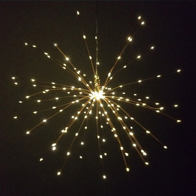 Hanging Fireworks and Fairy Lights