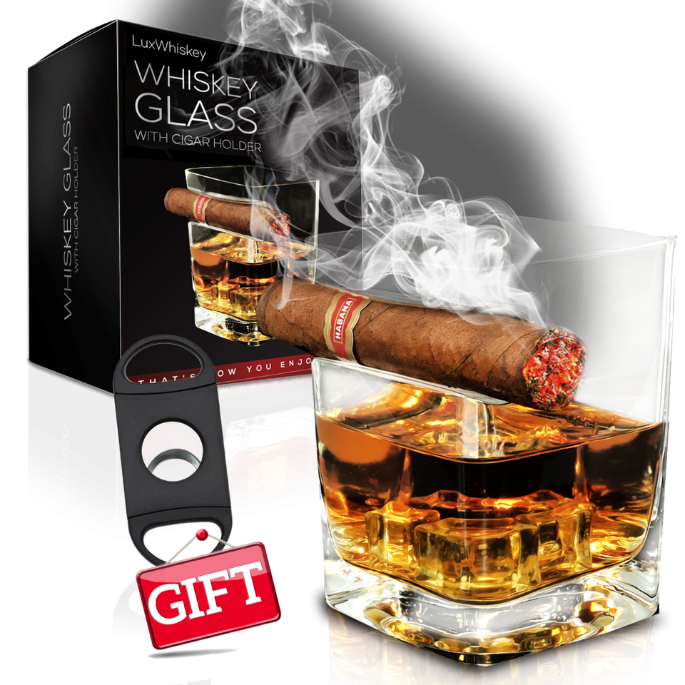LuxWhiskey | Whiskey Glass With Indented Cuban Rest