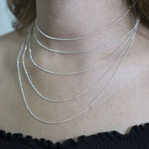 engraved  925 Sterling Silver Cursive Necklace