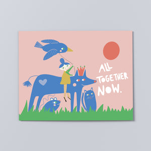 'All Together Now' Print, multiple sizes