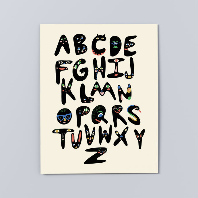 'Type Face' Print, multiple sizes