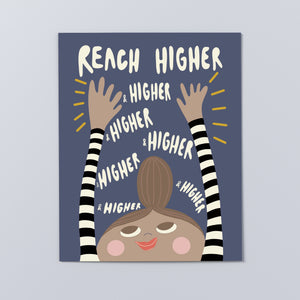 "'Reach Higher Brunette' Print, 16"" x 20"""