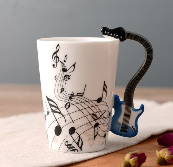 Guitar Bass Music Ceramic Coffee Mugs