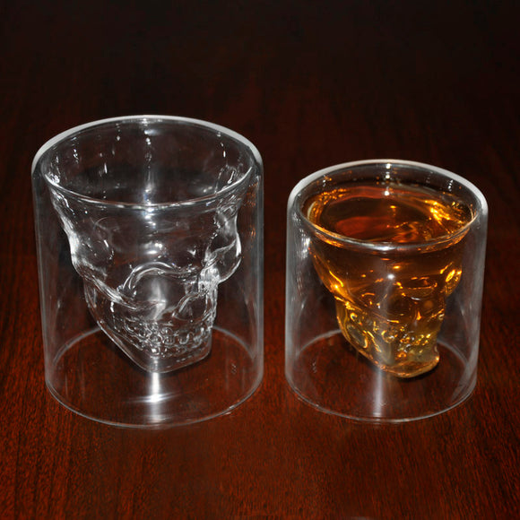 Transparent Crystal Skull Head Glass