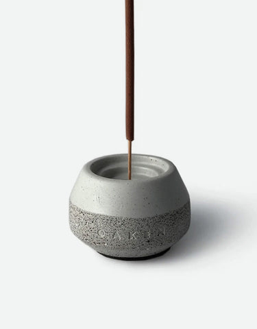 Oaken Lab - Oaken x Conture Concrete Incense Holder Set, Batavia Barber, 10 Sticks