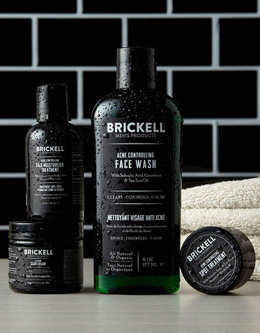 Brickell Men's Products - Acne Controlling System for Men