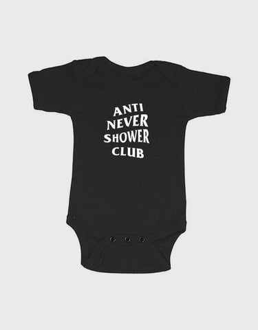 ANSC - Anti Never Shower Club Onesie, 12-18m