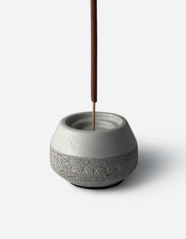 Oaken Lab - Oaken x Conture Concrete Incense Holder Set, Far Afield, 10 Sticks