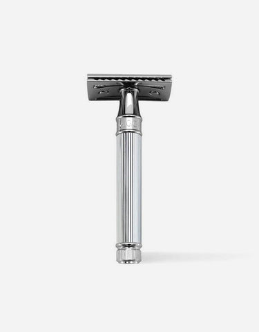 Edwin Jagger - Double Edge Safety Razor, Lined, Chrome Plated Metal
