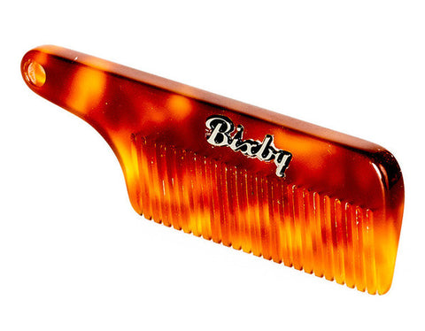 Bixby - Amber Tortoise, Carson Moustache Comb