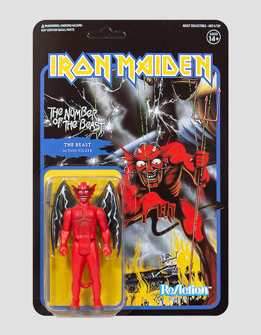 Super7 - Iron Maiden ReAction Figure - The Number Of The Beast (Album Art)