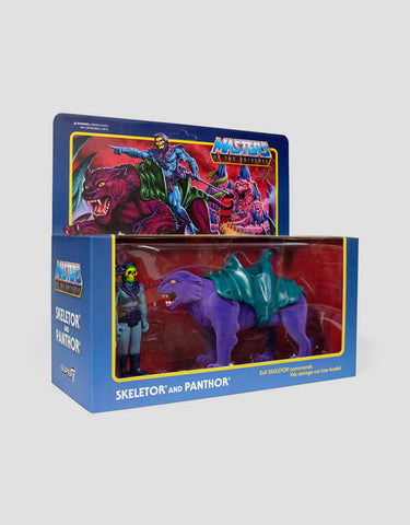 Super7 - Masters of the Universe ReAction Figure - Skeletor & Panthor