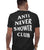 ANSC - Anti Never Shower Club Tee, Black