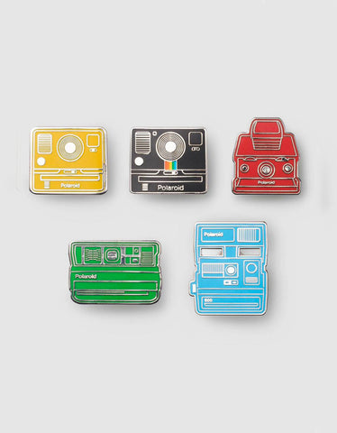 Polaroid Camera Pin Badge - Collector's Kit