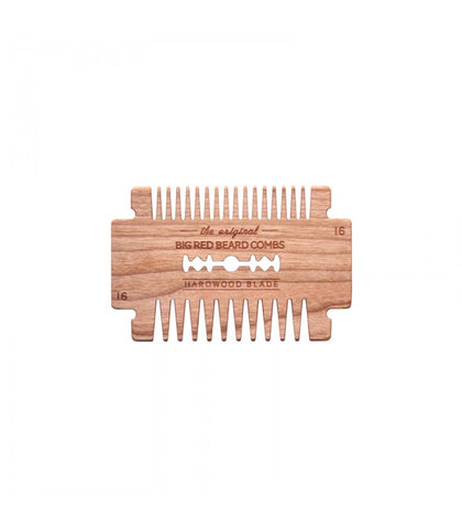 Big Red Beard Combs - No.16 Hardwood Blade, Cherry