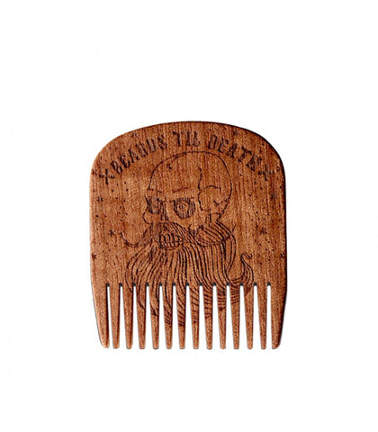 Big Red Beard Combs - Beards Til Death Skull Special Edition Makore
