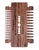 Big Red Beard Combs - No.16 Hardwood Blade