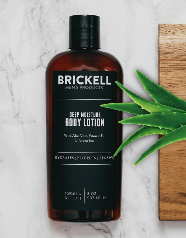 Brickell Men's Products - Deep Moisture Body Lotion for Men (Scented)