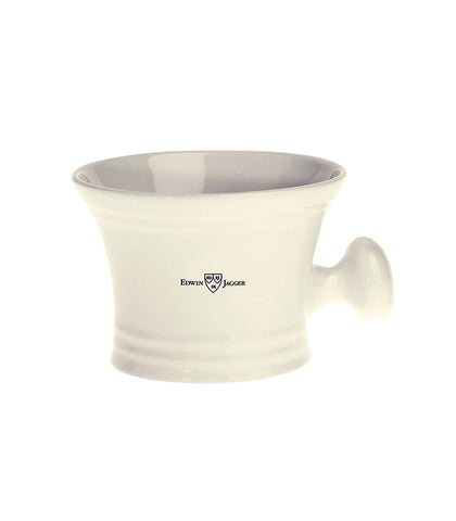 Edwin Jagger - Porcelain shaving soap bowl with handle