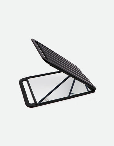 Barber Double-Sided Folding Mirror, Black