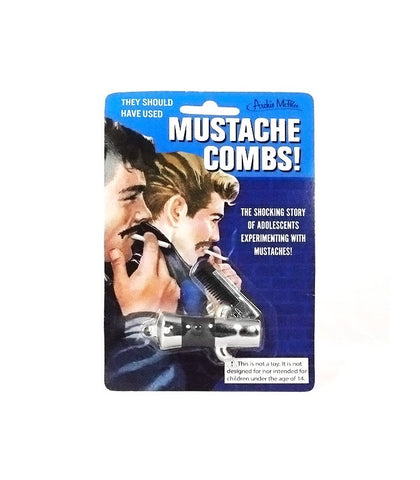 Archie Mcphee - Switchblade Mustache Comb