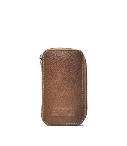 Parker - LP4 Leather saddle zip pouch for razor and blade
