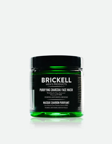Brickell Men's Products - Purifying Charcoal Face Mask, 118ml