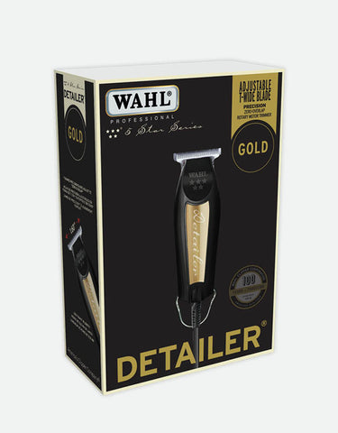 "Wahl - 5 Star Series Detailer Professional Corded Trimmer, ""T"" Wide Blade, Black and Gold, Limited Edition"